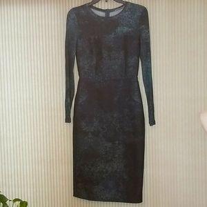 MaxMara Made In Italy green blue dress